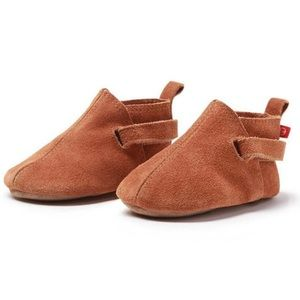 ZUTANO Tan Suede Baby Bootie Shoes - 6 months